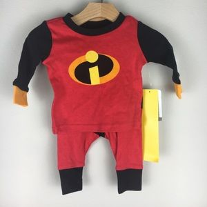Disney Incredibles Top and Bottom - 0 to 3 mos
